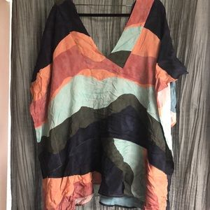 Multi colored bathing suit cover up